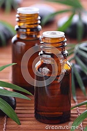 Aromatherapy, essential oil bottles