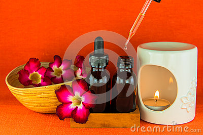 Aromatherapy essential oil and the burner