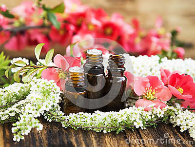 Aromatherapy Flower Essences in Bottles