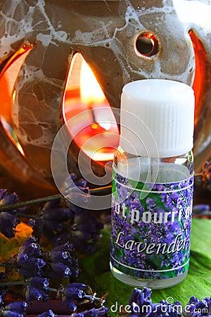 Free Aromatherapy - Lavender Oil Royalty Free Stock Photos - 1132528
