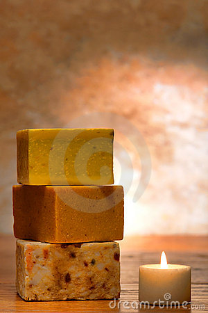 Aromatherapy Natural Bath Soap and Candle