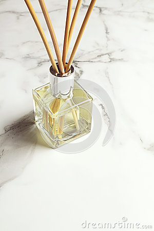 Aromatherapy reed diffuser air freshener with text space below