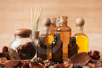 Aromatherapy Supplies Stock Photo - Image: 18011600