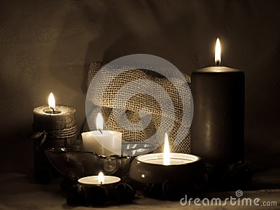 Aromatic candles _sepia