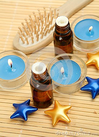 Aromatic oil and candles