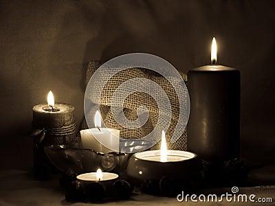 Aromatische Kerzen _sepia