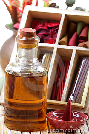 Aromatische olie en punten