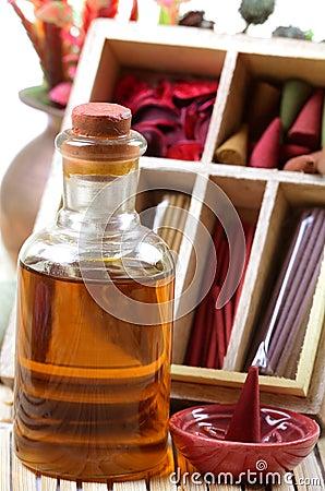 Aromatisches Schmieröl und Felder