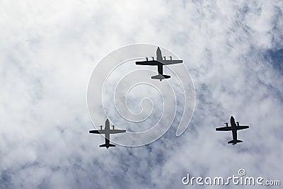 Aéronefs Image éditorial