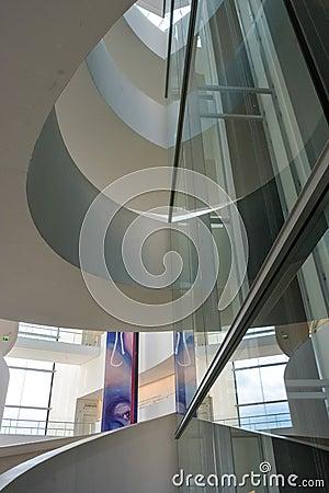 Free ARoS Art Museum, Aarhus, Denmark - Abstract Reflections Stock Photo - 49668860