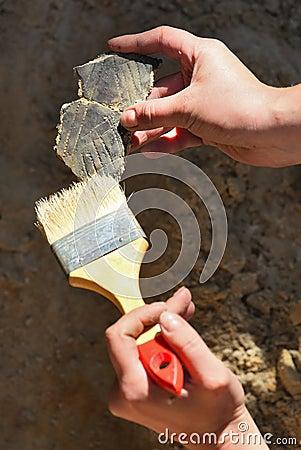Arqueologia: achados de limpeza