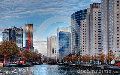 Arquitectura da cidade de Rotterdam Imagem Editorial