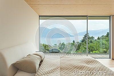 Arquitectura Moderna, Interior, Dormitorio Foto de archivo , Imagen 44699984