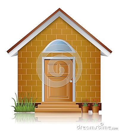 Arquitetura da casa do tijolo