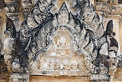 Arquitetura tailandesa intricada