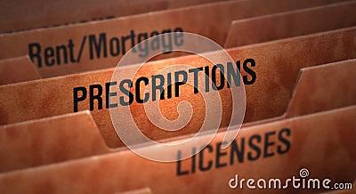 Arquivo das prescrições no dobrador