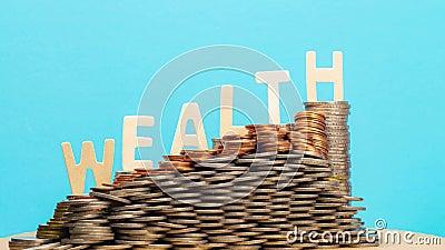 Arrêter l'augmentation du mouvement de richesse - panoramique et zoom en vigueur banque de vidéos