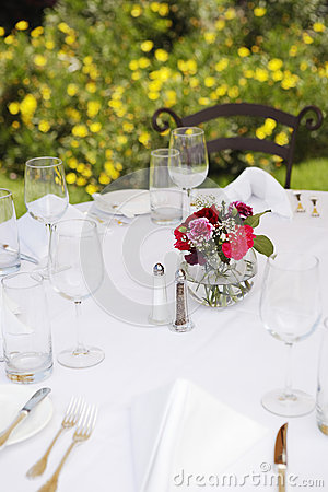 Arranged Dinning Table