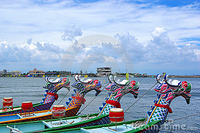 Arranged Dragon boats