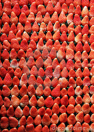 Arranged strawberries