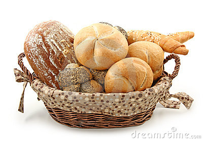 Arrangement of bread