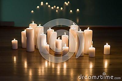 Arrangement of candles