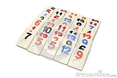 Arrangement of Plastic Number Pieces