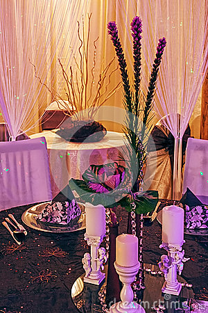 Arranjament for a romantic dinner -7
