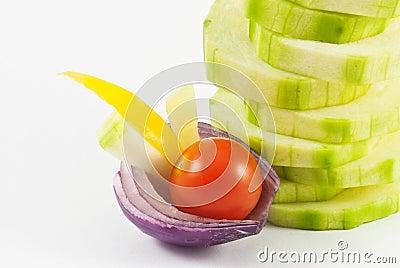 Arrangement of the vegetable