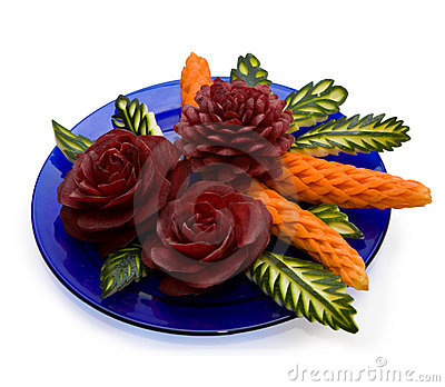 Arrangement of vegetables - carving