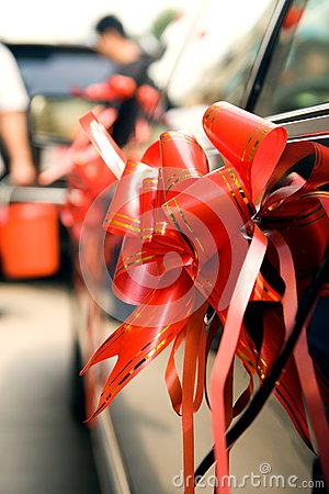 Arrangement on Wedding car