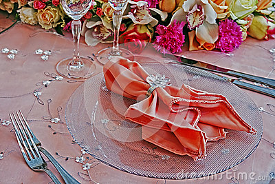 Arrangement for the wedding dinner party-7