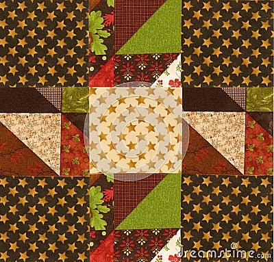 Arranging quilt design on batting
