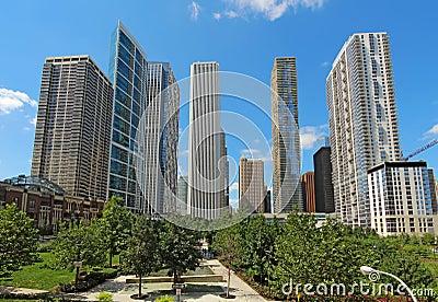 Arranha-céus em Chicago do centro, Illinois