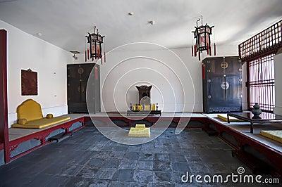 Arranjo imperial do interior do palácio