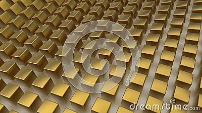 Array of golden cubes