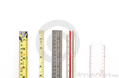 Array of Rulers & Measuring Tools