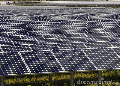 Array Of Solar Panels Stock Photos - Image: 14002663