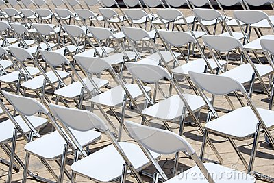 Array of White Chairs