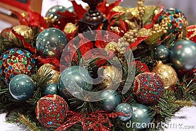 Arreglo de la bola de la Navidad