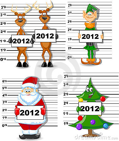 Free Arrested Santa, Reindeer, Elves Vector Stock Image - 22213901