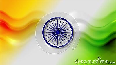 Arrière-plan de mouvement d'ondes lisses abstrait Couleur de l'Inde banque de vidéos