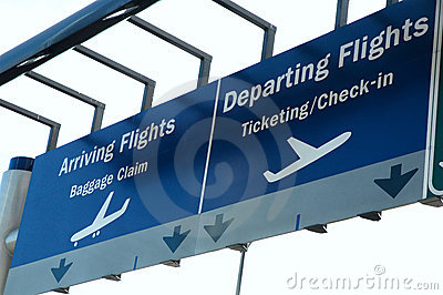 Arrival Departure Sign