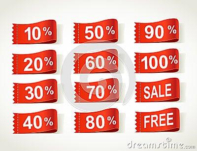 Arrival label sale percents