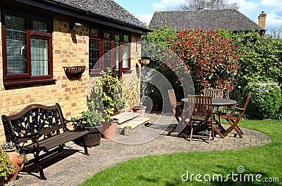 Arrival of Spring in an English Garden