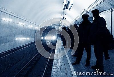 Arrival subway train