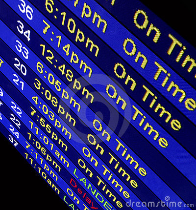 Free Arrival Times At An Airline Counter Stock Images - 567634