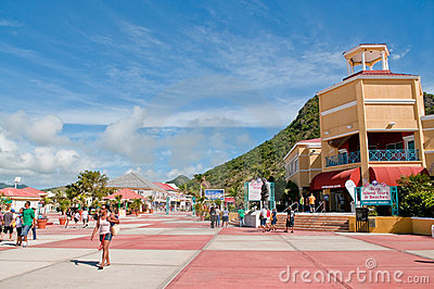Arrival to marketplace at St. Marteen Editorial Photo