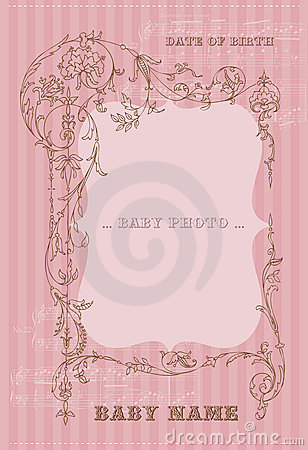 Free Arrival Vintage Card With Photo Frame Stock Images - 21870494