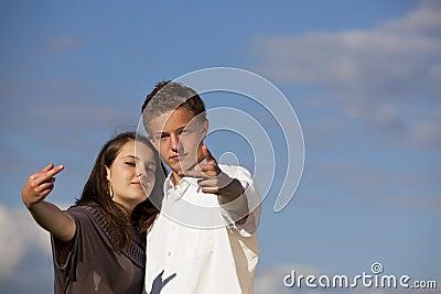 Arrogant teenage couple